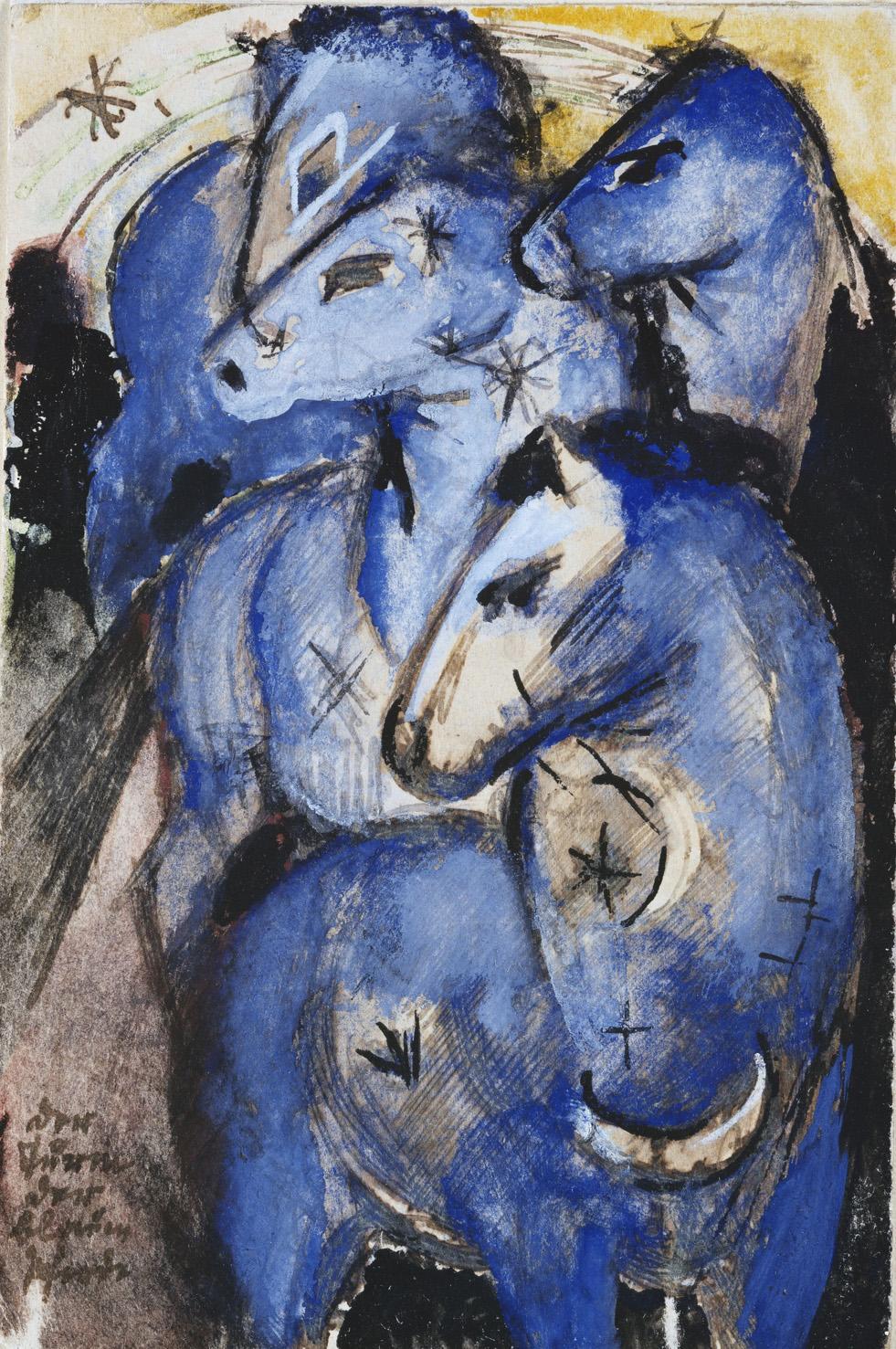Der Turm der Blauen Pferde in der Pinakothek der Moderne