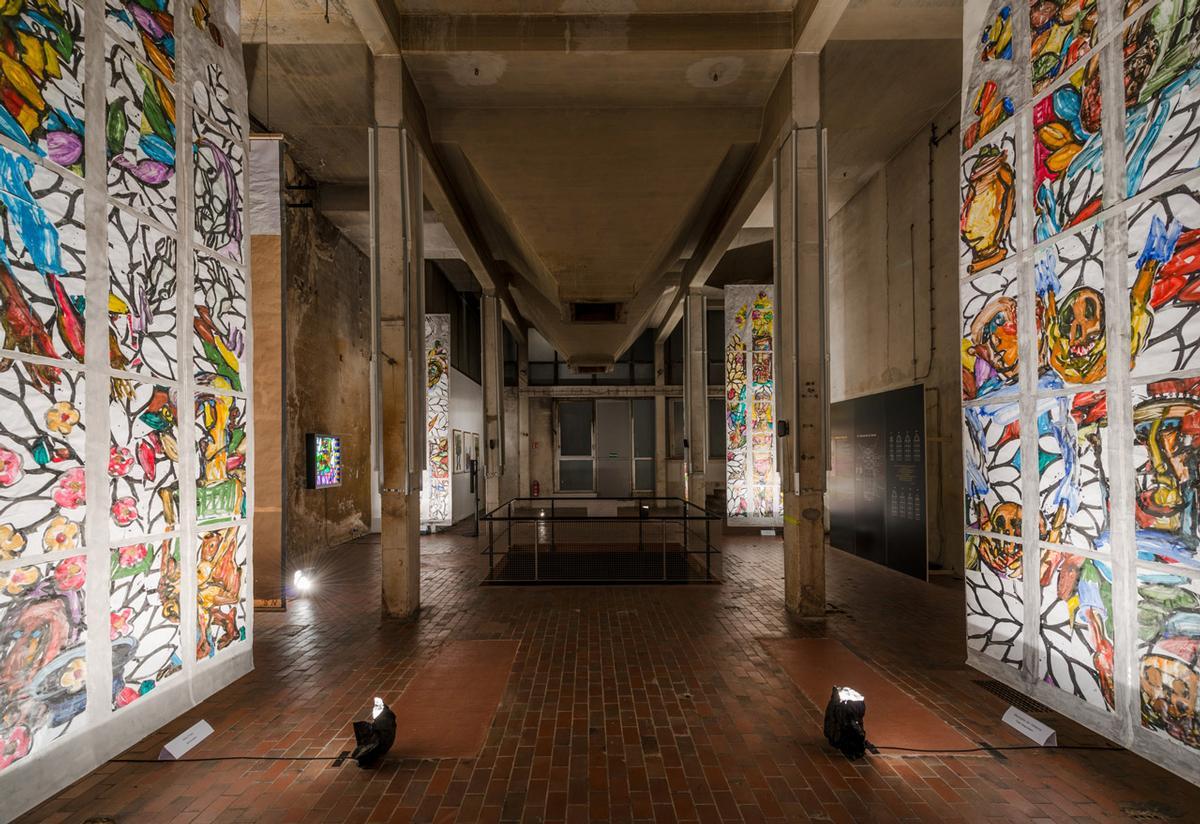 Lüpertzfenster für St. Elisabeth in Bamberg